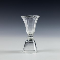 An 18th Century Double Ended Dram Glass