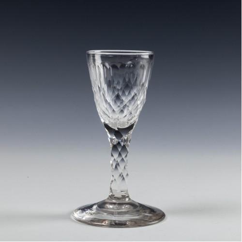 Georgian Facet Cut Gin Glass c1820