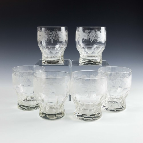 Panel Cut Whisky or Water Glasses