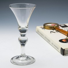 A Baluster Wine Glass c1730