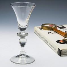 A Georgian Baluster Wine Glass c1730