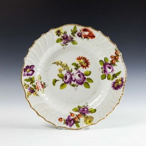 Imperial Vienna Porcelain Plate c1760
