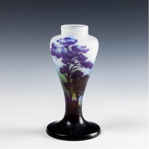 Galle Four Colour Cameo Landscape Vase c1900