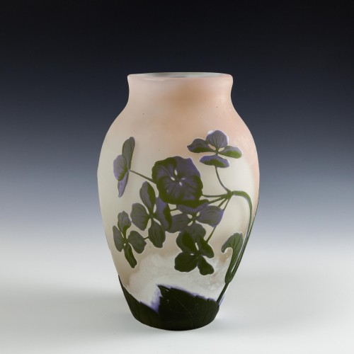 A Large Galle Four Colour Cameo Vase c1900
