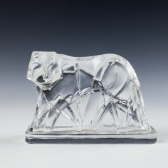 Baccarat George Chevalier Crystal Tiger c1925