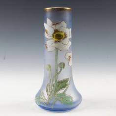 "Legras ""Lamartine"" Anemone Enamelled Vase c1900"