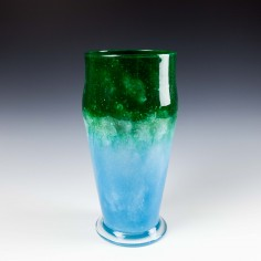 James Powell & Sons, Whitefriars, Cloudy Glass Vase Designed by Harry Powell c1935