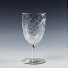 Rare Webb Cameo Relief Cut Wine Glass c1890