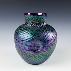 Kralik Glass Fishscales Vase c1905