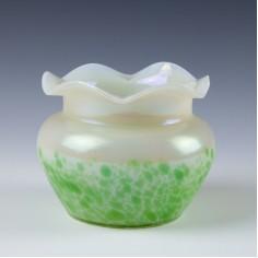Pallme Konig Diana Oil Spot Glass vase c1900