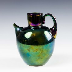 "Thomas Webb ""Bronze"" Glass Oil Jug - c1880"