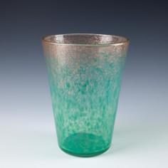 Monart Glass Vase with Aventurine Shape OE  VII c1935