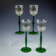 Four Theresienthal Wine Glasses c1905