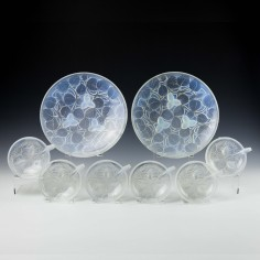 Andre Delatte Opalescent Glass Dessert Service c1920