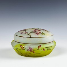 A Daum Nancy Cameo Glass Powder Box c1900
