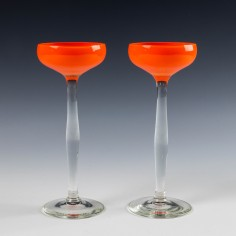 A Pair Loetz or Harrach Tango Schnapps Glasses c1925
