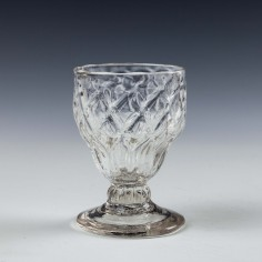 A Georgian Diamond Moulded Monteith Bonnet Glass c1760