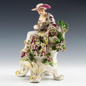 Bow Porcelain Figure of Spring c1765