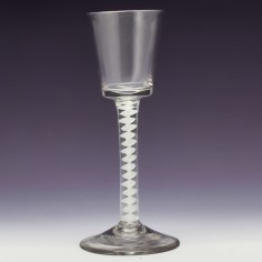 Single Series opaque Twist Wine Glass c1760