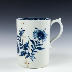 Large Lowestoft Porcelain Hand Painted Mug, c1770