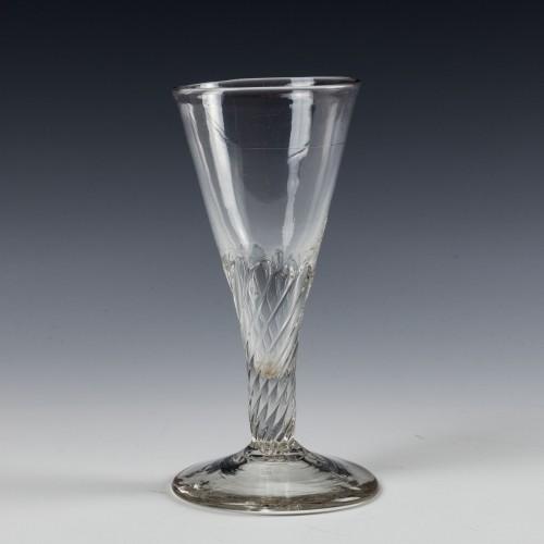 Georgian Petal Moulded Ale Glass c1780