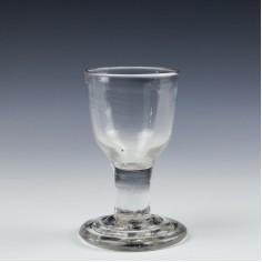 A Terraced Foot Dram Glass c1760