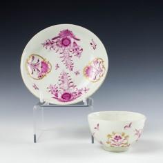 Worcester Porcelain  Teabowl and Saucer c1775