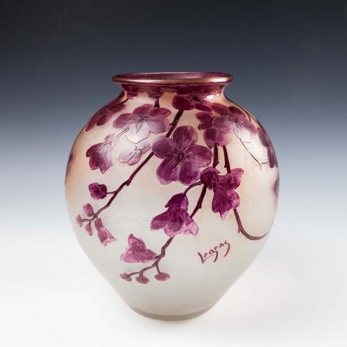 A Large Legras 'Rubis Series' Glass Vase c.1910