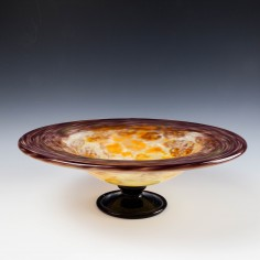 An Art Deco Schneider Glass Footed Bowl c1930