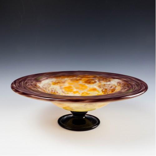 An Art Deco Schneider Glass Footed Bowl c1930