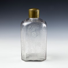 An 18th Century Engraved Screw Top Spirit Decanter c1790