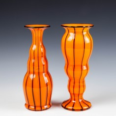 A Pair of Loetz Michael Powolny Asymmetrical Mirror Vases - c1920