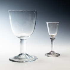 18th Century Plain Stem Wine Goblet  Was £290