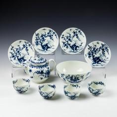 Worcester Porcelain Tea Set c1765