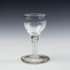 Opaque Twist Stem Firing Glass c1760