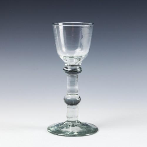 A Georgian Balustroid Wine Glass c 1750