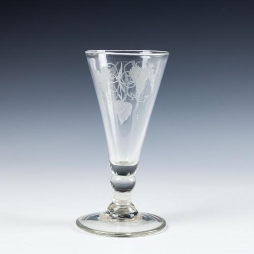 Engraved Georgian Ale Glass c1780