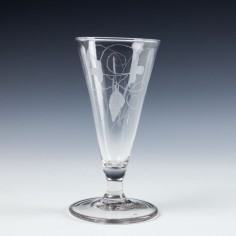 Georgian Engraved Ale Glass c1780