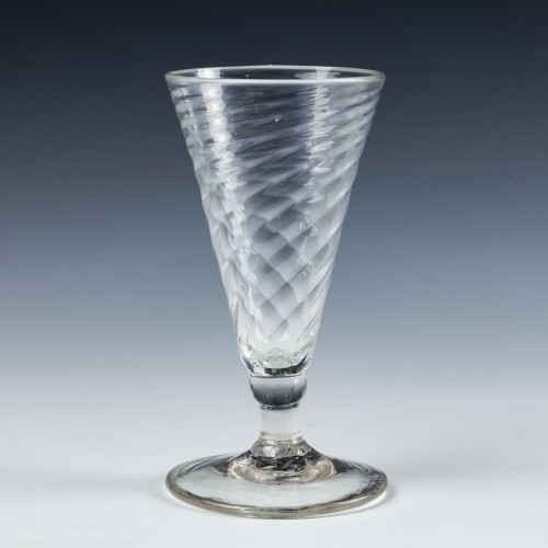 Georgian Wrythen Moulded Ale Glass - c1760