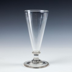 A Georgian Capstan Stem Ale Glass - c1800