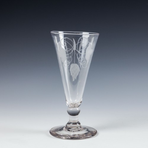 A Georgian Engraved Ale Glass c1780
