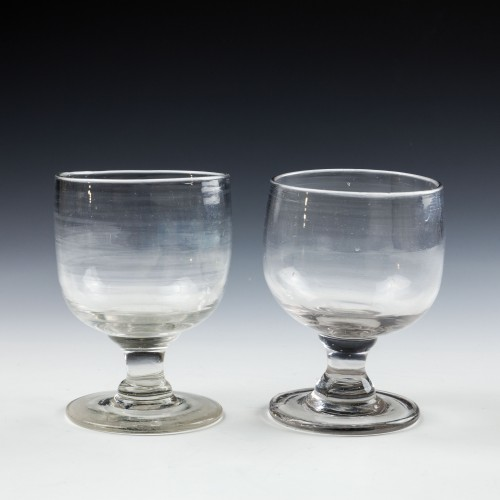 Two Victorian Tavern Dram Glasses c1880