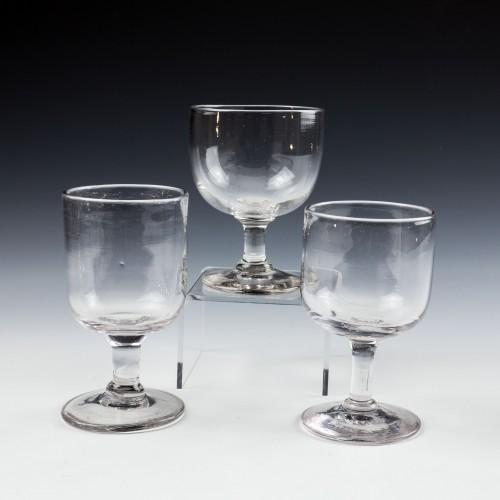 A Trio of Victorian Tavern Dram Glasses c1880