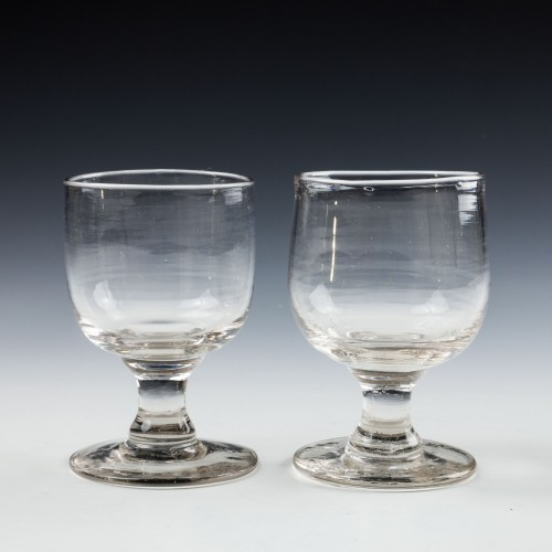 Two Victorian Tavern Dram Glasses c1880