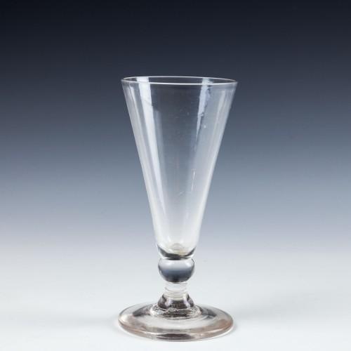 A Georgian Dwarf Ale Glass c1770