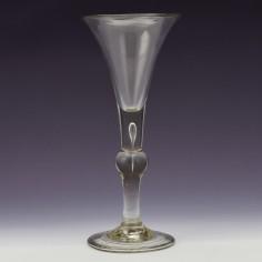 A Georgian KIt Kat Wine Glass c1740