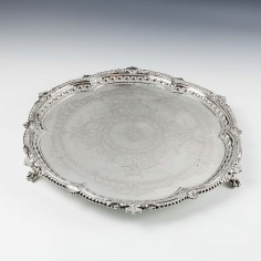 A Sterling Silver Salver Sheffield 1890