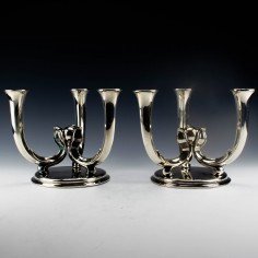 Pair of WMF Silver Plate Candelabras c1938