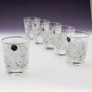 Set of Six Richardson Crystal Tumblers c1953