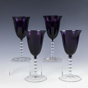 A Pair of Amethyst Wine Glasses